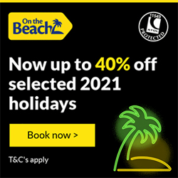 Get up to 40% off selected holidays