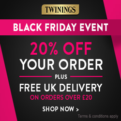 Twinings Black Friday Offer: 20% OFF