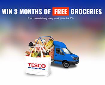 Chance to win 3 months of free Tesco groceries