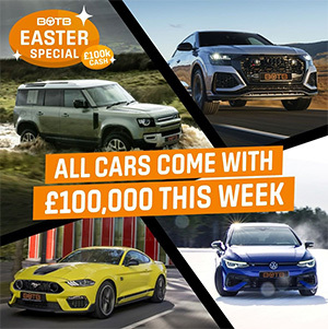 Win your dream car + £100k cash
