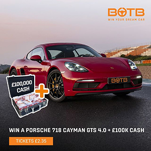 Win Your Dream Car + £100k
